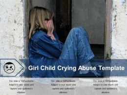 Girl Child Crying Abuse Template