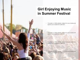 Girl Enjoying Music In Summer Festival