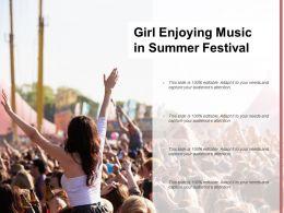 Girl Enjoying Music In Summer Festival