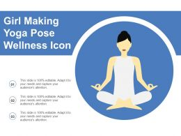 Girl Making Yoga Pose Wellness Icon