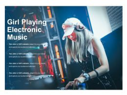 Girl Playing Electronic Music