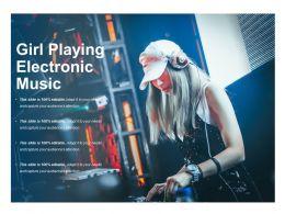Girl Playing Electronic Music