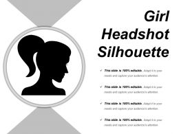 Girl Silhouette Headshot Sample Of Ppt