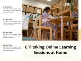 Girl Taking Online Learning Sessions At Home