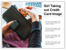Girl Taking Out Credit Card Image