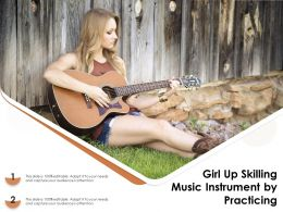 Girl Up Skilling Music Instrument By Practicing