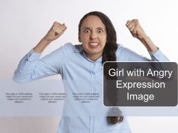 Girl With Angry Expression Image