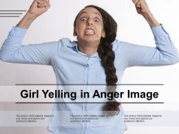Girl Yelling In Anger Image