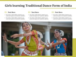 Girls Learning Traditional Dance Form Of India