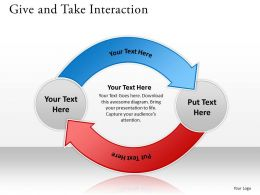 Give And Take Interaction Ppt Slides Diagrams Templates