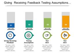 Giving Receiving Feedback Testing Assumptions Collecting Ideas Proving Summaries