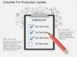 Gj Checklist For Production Update Flat Powerpoint Design