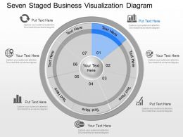 gj Seven Staged Business Visualization Diagram Powerpoint Template
