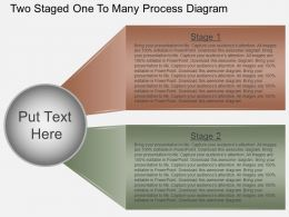 Gj Two Staged One To Many Process Diagram Powerpoint Template