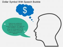 Gk Dollar Symbol With Speech Bubble Flat Powerpoint Design