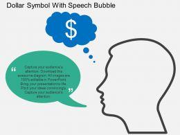 Gk Dollar Symbol With Speech Bubble Flat Powerpoint Design