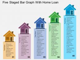 Gk Five Staged Bar Graph With Home Loan Flat Powerpoint Design