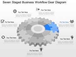 gk Seven Staged Business Workflow Gear Diagram Powerpoint Template