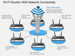 Gk Wi Fi Routers With Network Connectivity Powerpoint Template