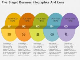 Gl Five Staged Business Infographics And Icons Flat Powerpoint Design