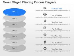 gl Seven Staged Planning Process Diagram Powerpoint Template