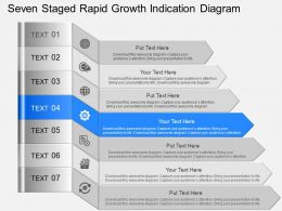 gl Seven Staged Rapid Growth Indication Diagram Powerpoint Template