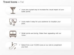 Glass Currencies Bus Elevator Ppt Icons Graphics