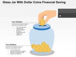 Glass Jar With Dollar Coins Financial Saving Flat Powerpoint Design