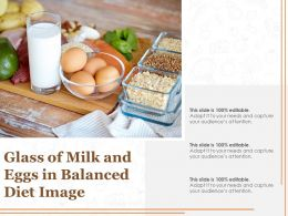 Glass Of Milk And Eggs In Balanced Diet Image