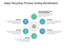 Glass Recycling Process Sorting Beneficiation Ppt Powerpoint Presentation Summary Cpb