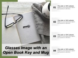 Glasses Image With An Open Book Key And Mug