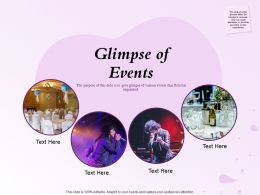 Glimpse Of Events Organized N131 Powerpoint Presentation Grid