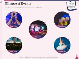Glimpse Of Events Organized Ppt Powerpoint Presentation Slides Example File