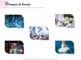 Glimpse Of Events R151 Ppt Powerpoint Presentation Icon Designs