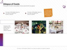 Glimpse Of Events Stage Shows Management Firm Ppt Topics