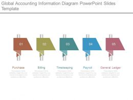Global Accounting Information Diagram Powerpoint Slides Template