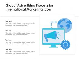 Global Advertising Process For International Marketing Icon