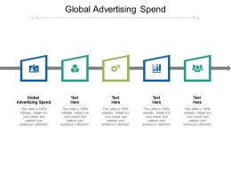Global Advertising Spend Ppt Powerpoint Presentation Inspiration Infographics Cpb