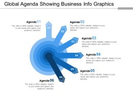 Global Agenda Showing Business Info Graphics