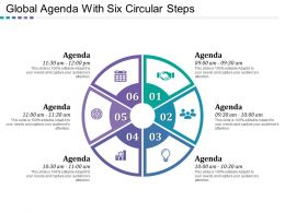 Global Agenda With Six Circular Steps