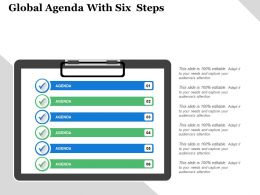 Global Agenda With Six Steps 1