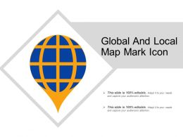 Global And Local Map Mark Icon