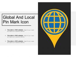 Global And Local Pin Mark Icon