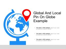 Global And Local Pin On Globe Example