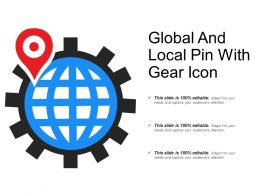 Global And Local Pin With Gear Icon