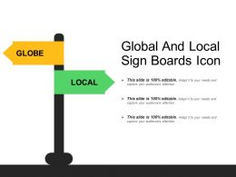 Global And Local Sign Boards Icon
