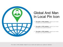 Global And Man In Local Pin Icon