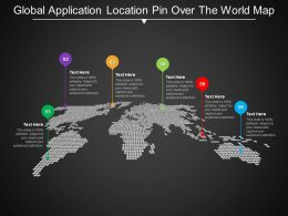 Global Application Location Pin Over The World Map