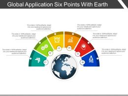 Global Application Six Points With Earth
