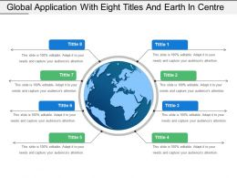 Global Application With Eight Titles And Earth In Centre